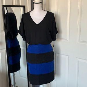NEW LISTING! Banana Republic black and blue skirt